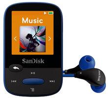 SanDisk Sansa Clip Sports 8GB, modrá - SDMX24-008G-G46B