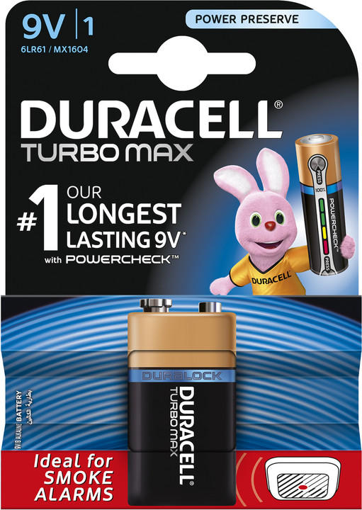 Duracell Turbo Max 9V, 1ks