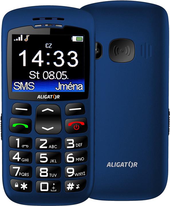Aligator A670, modrá + nabíjecí stojánek
