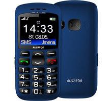 Aligator A670, modrá + nabíjecí stojánek - A670BE