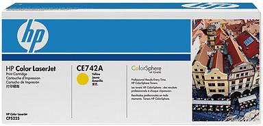 HP CE742A, žlutá