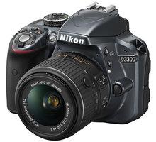 Nikon D3300 + 18-55 VR AF-P, šedá - VBA392K002 + Nikon CF-EU11 systémová brašna v ceně 590 Kč + Badmintonový set Tregare FIRST ACTION v ceně 399 Kč