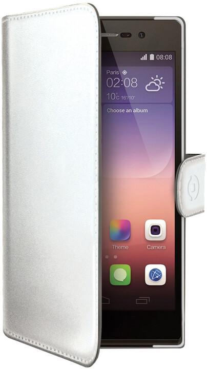 CELLY Wally pouzdro pro Huawei P8, PU kůže, bílá