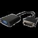 PremiumCord převodník DVI na VGA s krátkým kabelem, černá
