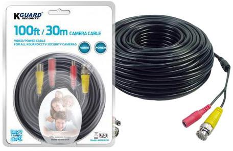 KGUARD Ah281b-30 prodlužovací kabel, 30m signál+napájení (k HDkamerám KGUARD i k ostatním)