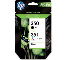 HP SD412EE, č. 350, č. 351, černá + barevná, Combo Pack – ušetřete až 20 % oproti standardní náplni