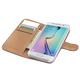 CELLY Wally pouzdro typu kniha pro Samsung Galaxy S6 Edge, PU kůže, černá