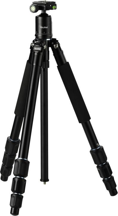 Rollei Fotopro Stativ C4i + Hlava 53P/ Zátěž 8kg/ Vytažený 145 cm, černá