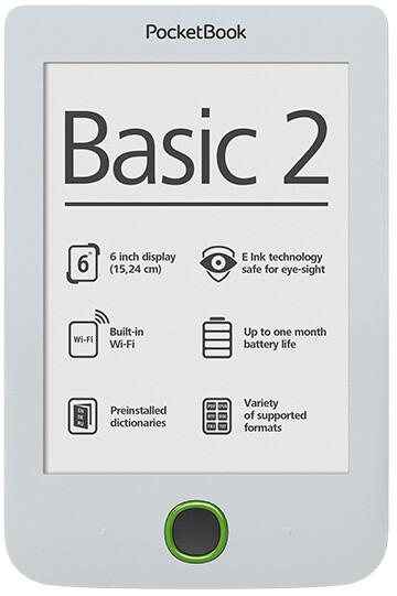 PocketBook 614 Basic, bílá