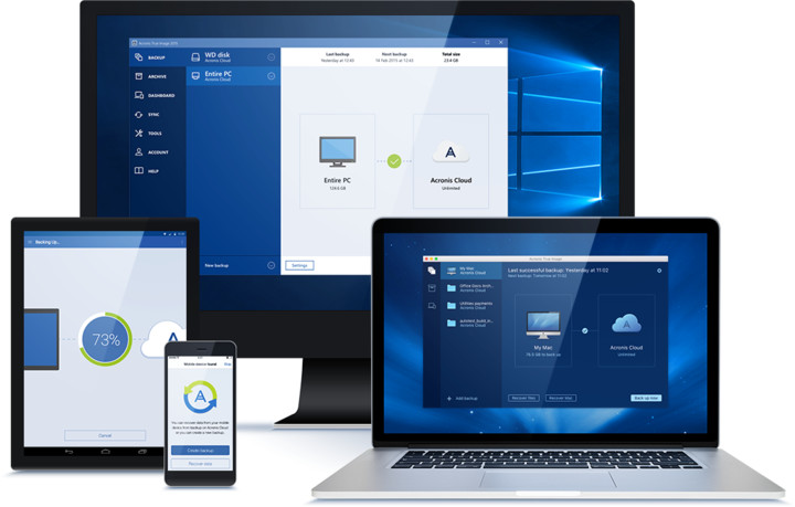 Acronis True Image Cloud 3 PC / 1 rok Upgrade