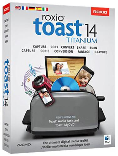 Roxio Toast 14 Titanium, 1 uživatel, Mac