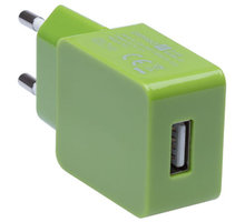 CONNECT IT nabíjecí adaptér 1xUSB port 1 A, zelená - CI-595