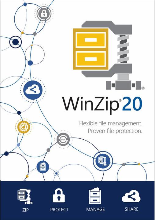 WinZip 20 Standard, 1 uživatel, Win