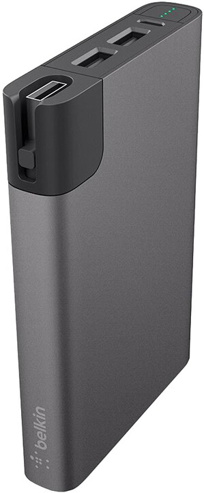 Belkin Power Pack 10000 W - MicroUSB, Lightning - Gray