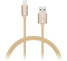 CONNECT IT Wirez Premium Metallic Lightning - USB, gold, 1m - CI-969
