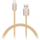 CONNECT IT Wirez Premium Metallic Lightning - USB, gold, 1m