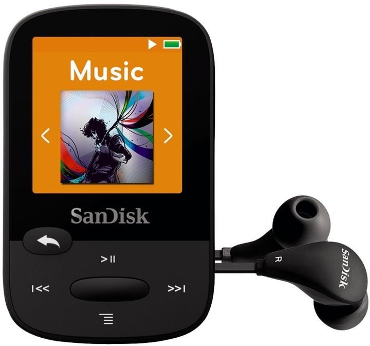 SanDisk Sansa Clip Sports 4GB, černá