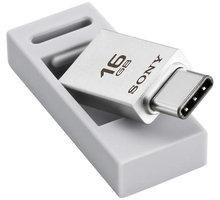 Sony Micro Vault OTG CA1 DUO - 16GB, stříbrná - USM16CA1