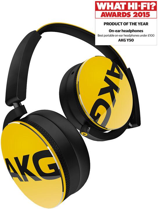 AKG Y50, žlutá