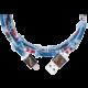 PlusUs LifeStar Premium Handcrafted USB Charge & Sync cable (1m) Lightning - Medium Blue