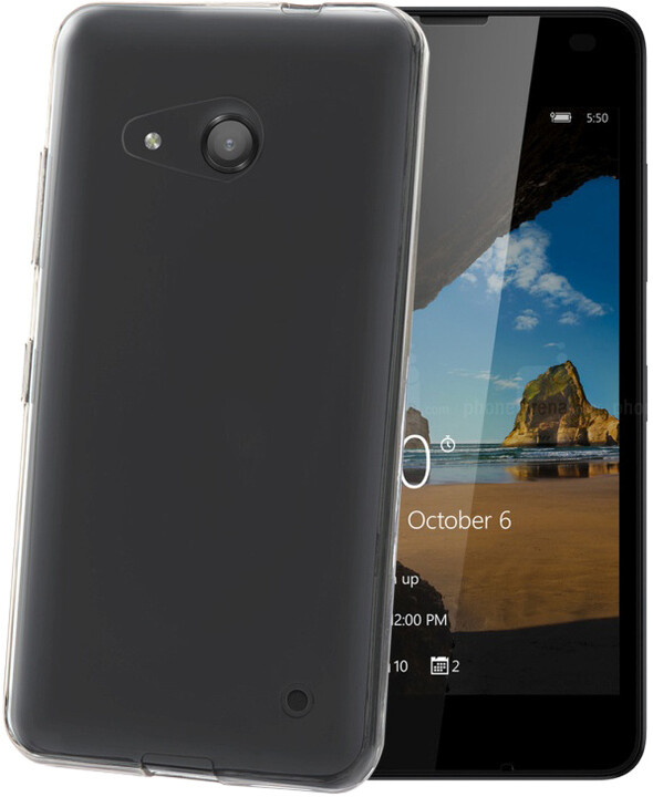CELLY Gelskin TPU pouzdro pro Microsoft Lumia 550, bezbarvá