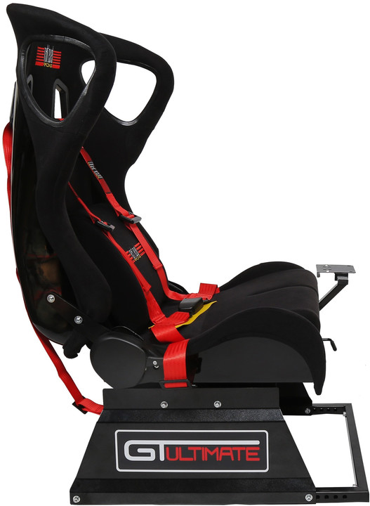 Next Level Racing GTultimate Seat Add-On for Wheel Stand, černá/červená