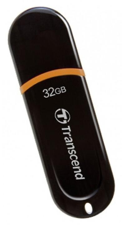 Transcend JetFlash 300 32GB, černo/oranžový