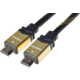PremiumCord GOLD HDMI High Speed + Ethernet kabel, zlacené konektory, 10m