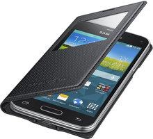 Samsung flipové pouzdro S-view EF-CG800B pro Galaxy S5 mini (SM-G800), černá - EF-CG800BKEGWW