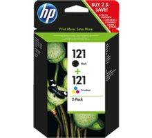 HP CN637HE, č. 121, černá+barevná + Zdarma SAFEPRINT A4 20 listů, lesklý ( v ceně 121,- )