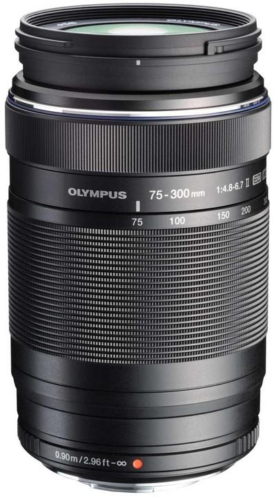 Olympus M. ZUIKO DIGITAL 75-300mm, F4.8-6.7 ED II, černá