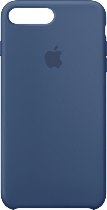 Apple Silikonový kryt na iPhone 7 Plus/8 Plus – mořsky modrý