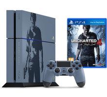 PlayStation 4, 1TB, šedomodrá + Uncharted 4: A Thief's End - PS719804451 + Uncharted: The Nathan Drake Collection (PS4) + Gamepad Sony PS4 DualShock 4, černý v ceně 1200kč