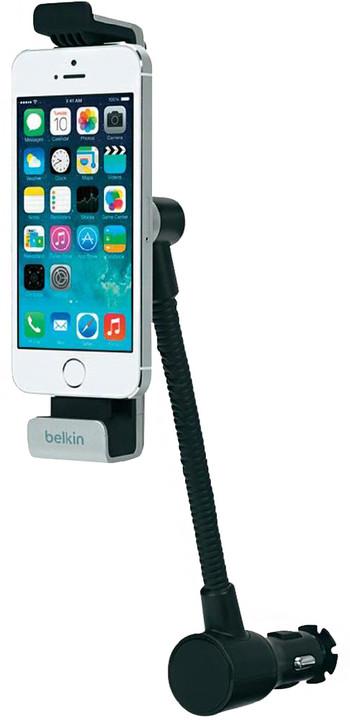 Belkin Car Navigation + Charge Mount - nabíječka do auta, pro Apple iPhone 5/SE - černá