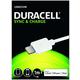 DURACELL napájecí a synchronizační kabel pro Apple Lightning zařízení bílý 1m