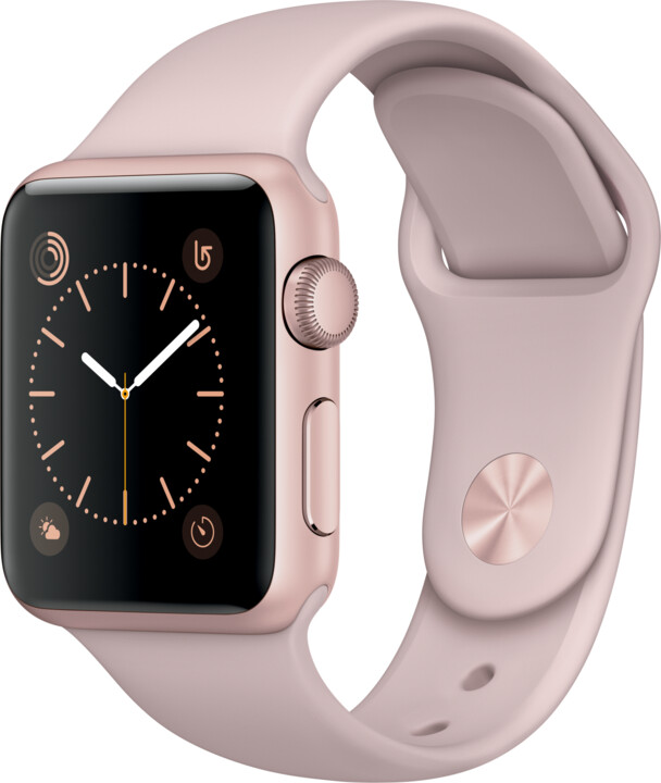 Apple Watch 38mm Rose Gold Aluminium Case with Pink Sand Sport Band