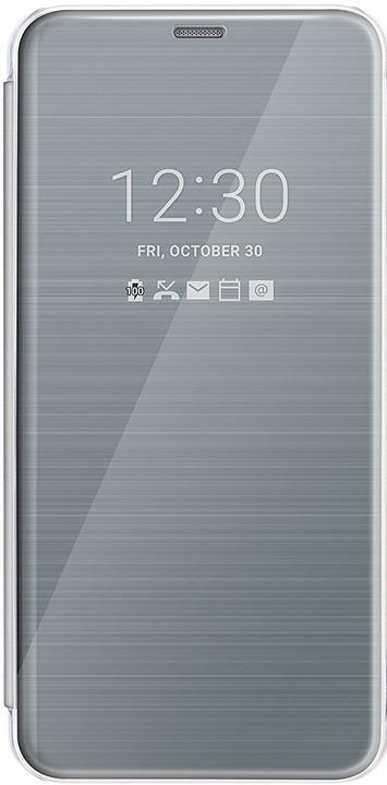 LG Quick Cover Clear CFV-300 pro LG G6, stříbrná