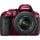 Nikon D5300 + 18-55 VR AF-P, červená