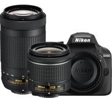 Nikon D3400 + AF-P 18-55 VR + 70-300 VR, černá - VBA490K005
