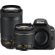 Nikon D3400 + AF-P 18-55 VR + 70-300 VR, černá  + Nikon CF-EU11 systémová brašna v ceně 590 Kč