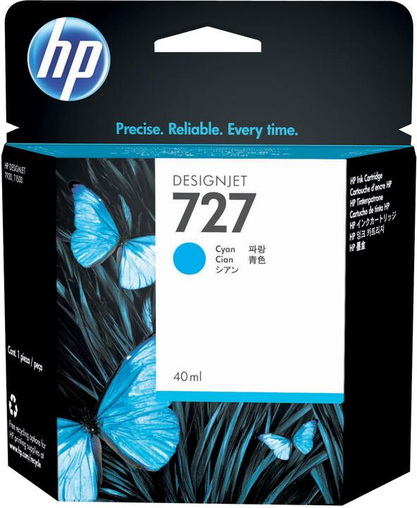 HP B3P13A náplň č.727, cyan