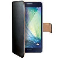 CELLY Wally pouzdro pro Samsung Galaxy A5, PU kůže, černá - WALLY443