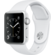 Apple Watch 2 38mm Silver Aluminium Case with White Sport Band
