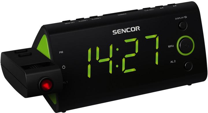 Sencor SRC 330 GN, radiobudík s projekcí
