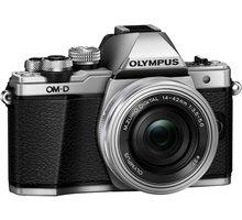 Olympus E-M10 Mark II + 14-42mm EZ + 40-150mm R, stříbrná/černá - V207053SE000
