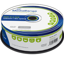 MediaRange DVD-R 4,7GB 16x, Spindle 25ks - MR403