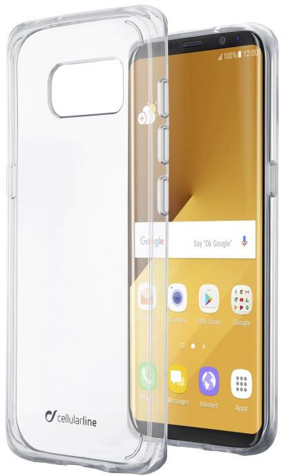 Cellularline CLEAR DUO zadní čirý kryt s ochranným rámečkem pro Samsung Galaxy S8 Plus