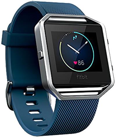Fitbit Blaze, EMEA, L, modrá - stříbrná