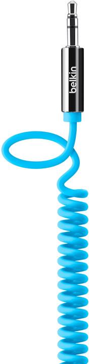 Belkin audio Jack 3,5mm M/M kroucený, 1.8m modrá