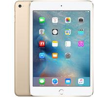 APPLE iPad Mini 4, 32GB, Wi-Fi, zlatá - MNY32FD/A + Zdarma GSM reproduktor Accent Funky Sound, červená (v ceně 299,-)